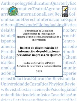 Quimíca - Biblioteca de la Universidad de Costa Rica