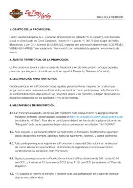 BASES DE LA PROMOCIÓN 1. OBJETO DE LA PROMOCIÓN