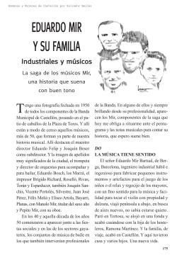 Eduardo Mir y su familia