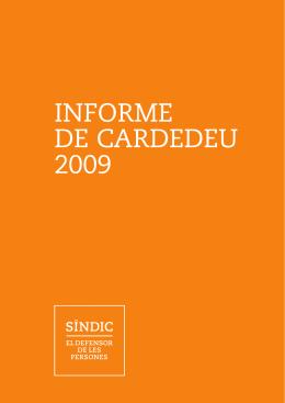 INFORME DE CARDEDEU 2009 - Síndic de Greuges de Catalunya