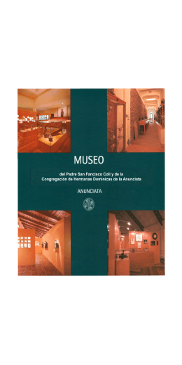 MUSEO folleto - Dominicas de la anunciata