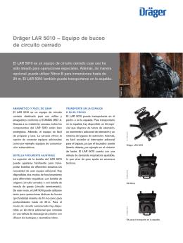 Dräger LAR 5010 – Equipo de buceo de circuito cerrado