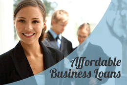 Business Loans Affordable
