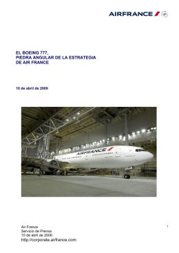 EL BOEING 777, PIEDRA ANGULAR DE LA