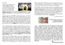 Jn 11,1-45 El Papa Francisco nos dice en la Exhortación Apostólica