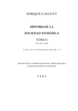 volumen i - Sociedad Teosófica Española