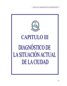 CAPITULO III: DIAGNOSTICO DE LA SITUACIÓN ACTUAL