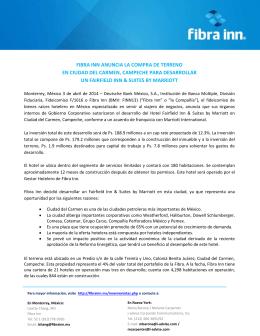 fibra inn anuncia la compra de terreno en ciudad del carmen