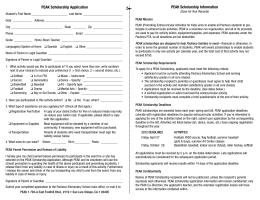 PEAK Scholarship Information PEAK Scholarship Application