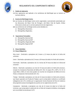 REGLAMENTO DEL CAMPEONATO IBÉRICO