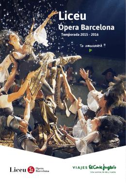 Ópera Barcelona - Viajes el Corte Ingles