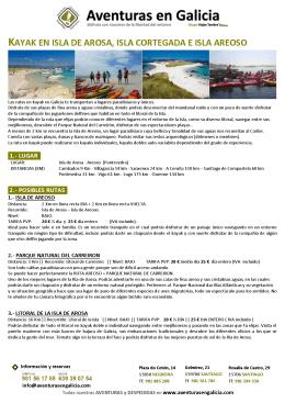kayak mar ria de arosa (isla arosa + isla areoso)