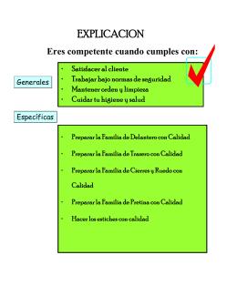 ADMINISTRAR LA CALIDAD EN EL ENSAMBLE DE PRENDAS DE