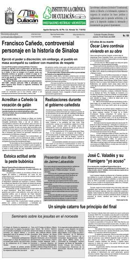 15 de Enero de 2009 198 Francisco Cañedo, controversial