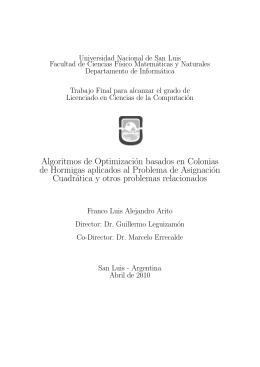 Algoritmos de Optimización basados en Colonias de Hormigas