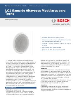 LC1 Gama de Altavoces Modulares para Techo