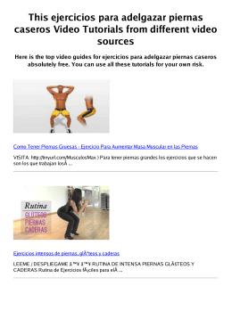 #Z ejercicios para adelgazar piernas caseros PDF video books