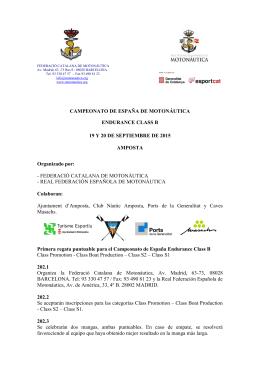CE Endurance 2015 Amposta - Real Federación Española de