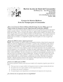 Cuentas de Ahorros Médicos - Connecticut Health Policy Project