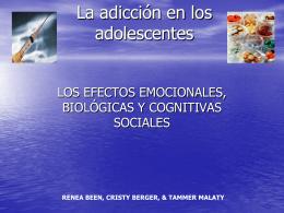 La adicción en los adolescentes