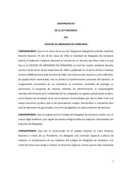 P - Colegio de Abogados de Honduras