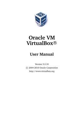 Oracle VM VirtualBox User Manual