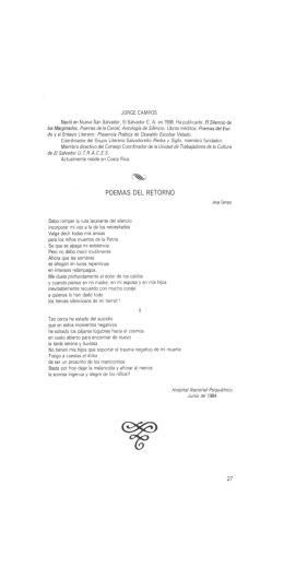 Poemas de Jorge Campos