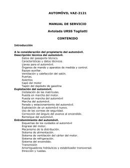 AUTOMÓVIL VAZ-2121 MANUAL DE SERVICIO