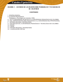 Catedra Upetecista - Aula Virtual de la UPTC