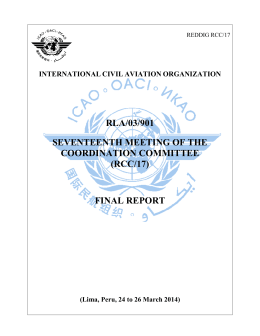 Final Report, Presented by Secretariat 21-May-2014 14:29