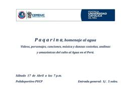 Mira el programa completo de Paqarina