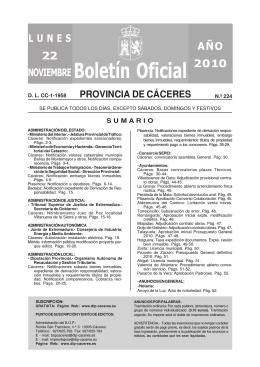 B.O.P. nº 224 - Diputación de Cáceres