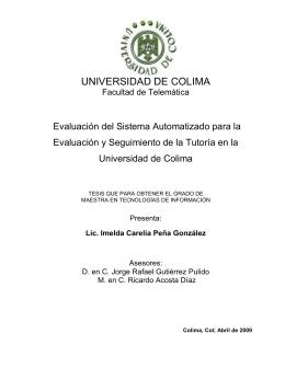 UNIVERSIDAD DE COLIMA - Dirección General de Servicios