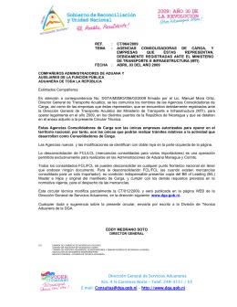 064-2009 - Dirección General de Servicios Aduaneros