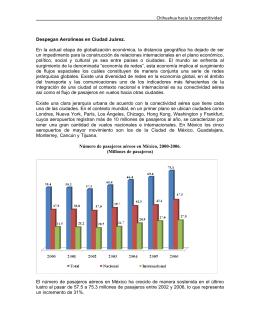 Page 1 Chihuahua hacia la competitividad Despegan Aerolíneas en