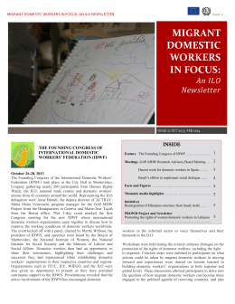 Migrant Domestic Workers in Focus, Issue #2  pdf - 0.9 MB