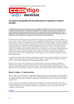 Los apuros de liquidez de Unicredit ponen en guardia a la banca