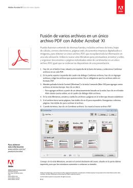 Fusión de varios archivos en un único archivo PDF con Adobe