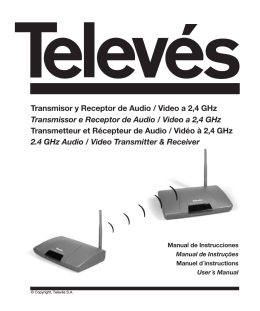Transmisor y Receptor de Audio / Video a 2,4 GHz Transmissor e
