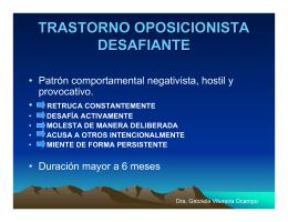TRASTORNO OPOSICIONISTA DESAFIANTE