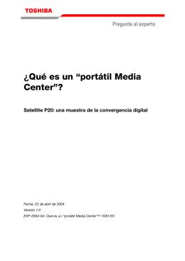 """¿Qué es un """"portátil Media Center""""?"""