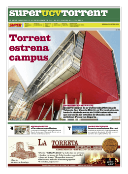 Torrent estrena campus - Universidad Católica de Valencia San