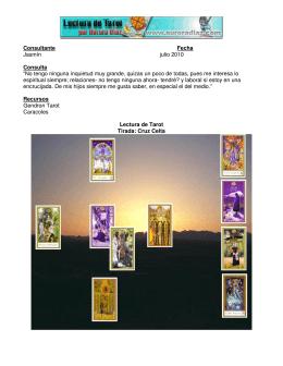 Ejemplo lectura de Tarot y Caracoles