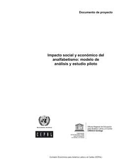 Impacto social y económico del analfabetismo: modelo de