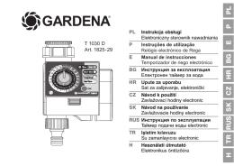 OM, Gardena, Temporizador de riego electrónico, Art 01825