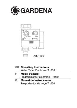 OM, Gardena, Temporizador de riego T 1030, Art 01806-21, 2006-05