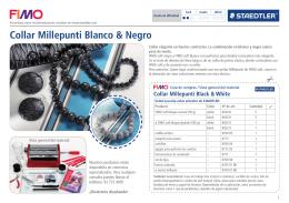 Collar Millepunti Blanco & Negro