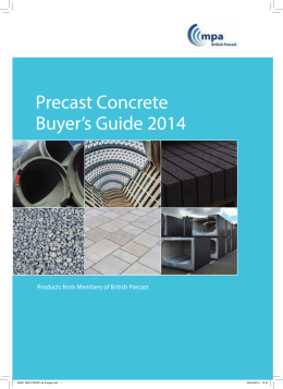 Precast Concrete Buyer`s Guide 2014