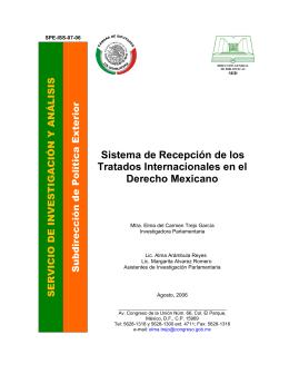 Sistema de Recepción de los Tratados Internacionales