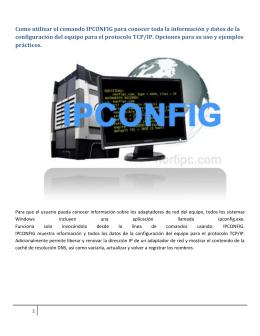 Como utilizar el comando IPCONFIG para conocer
